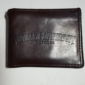 Harley Davidson Brown Leather Bi-Fold Wallet
